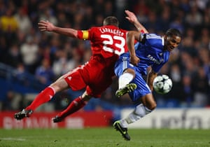 Chelsea v Liverpool: Malouda and Carragher