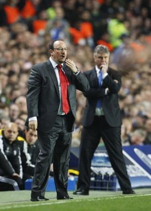 Chelsea v Liverpool: Benitez and Hiddink