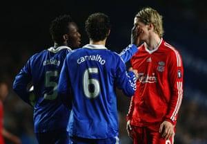 Chelsea v Liverpool: Essien and Torres