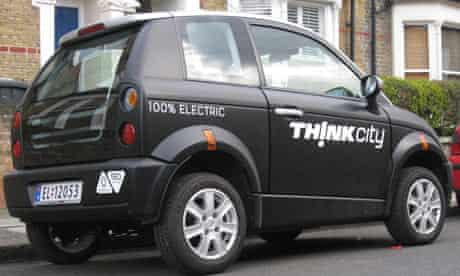 TH!NK City electric car in London