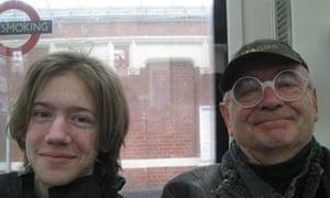 Austrian tourist Klaus Matza and son