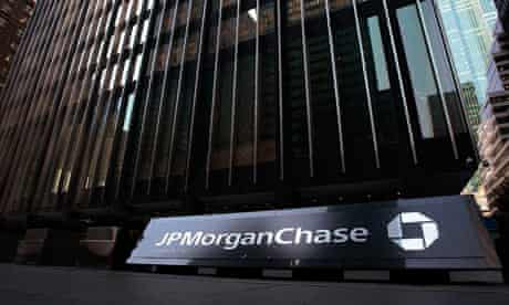 JP Morgan Chase HQ in New York. The bank reported a .1bn profit for the first quarter of 2009.