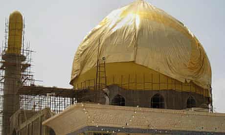 The restored Golden Dome shrine in Samarra, Iraq.
