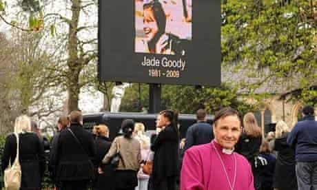 Bishop Jonathan Blake at Jade Goody's funeral