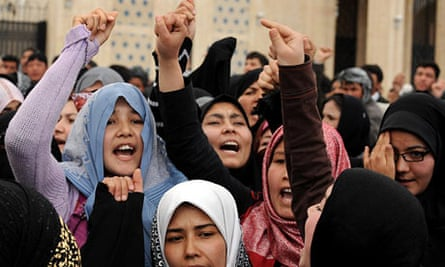 Afghan Shia women protest in Kabul