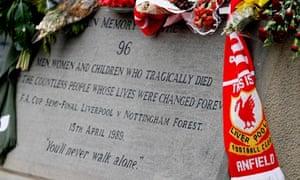 The Hillsborough memorial