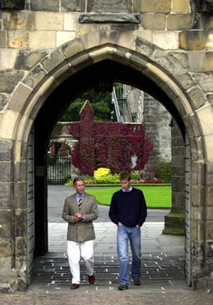 Prince William and Harry: Prince Charles and William at St Andrews
