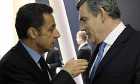President Nicolas Sarkozy and Prime Minister Gordon Brown meet at G20