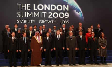 G20 members gather for a group portrait