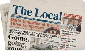 Mock up of a local paper