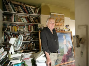 JG Ballard: JG Ballard at his home in Shepperton, Surrey