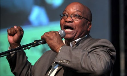 Jacob Zuma sings his trademark song Umshini wami during a taxi summit held in Johannesburg