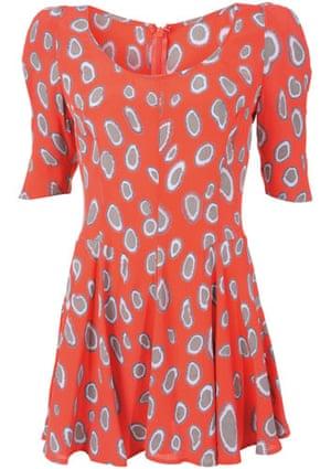 Viva Biba: Barbara Hulanicki Biba for Topshop Coral Bow Shoulder Dress