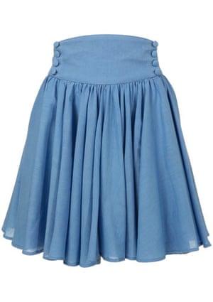 Viva Biba: Barbara Hulanicki Biba for Topshop blue button skirt