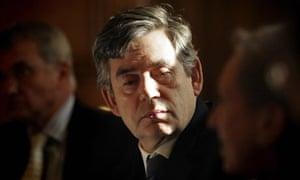 Gordon Brown at No 10 yesterday