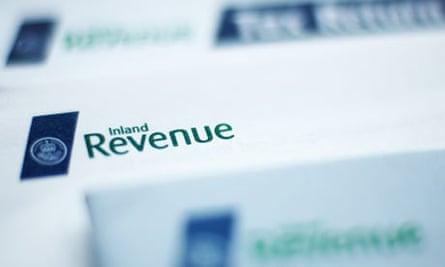 Inland Revenue tax return form
