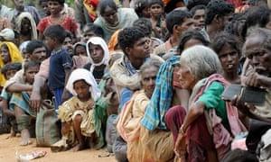 Civilians in Sri Lanka