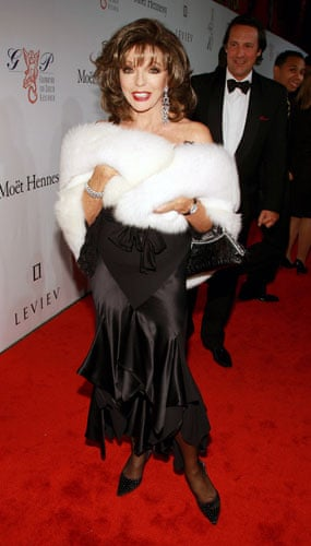 Joan Collins style icon: Actress Joan Collins attends the 2007 Angel Ball in New York.