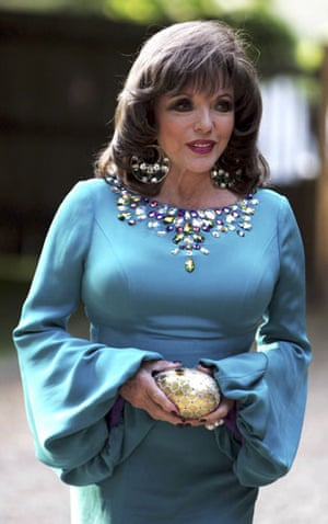 Joan Collins style icon: Actress Joan Collins arrives at the Raisa Gorbachev Foundation Party.