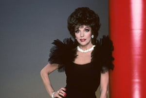 Joan Collins style icon: Joan Collins in the tv series Dynasty, 1981-1989