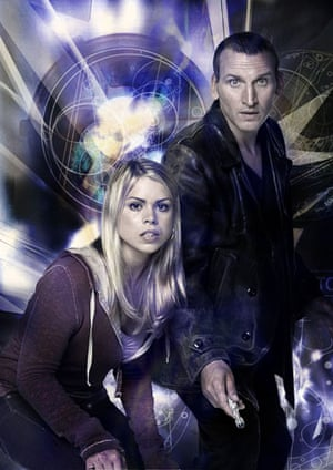 michael grade: Christopher Eccleston as Doctor Who with Billie Piper