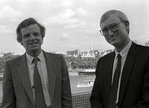 michael grade: Michael Grade and John Birt  at ITV