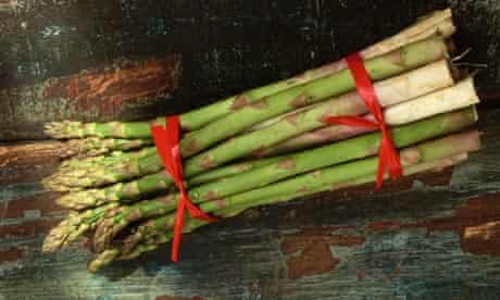 Asparagus Spears Tied with Red Ribbon