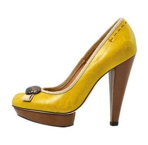 Fashion wishlist: yellow: Kurt Geiger platform