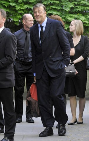 Clement Freud funeral: Stephen Fry at Sir Clement Freud funeral