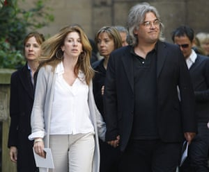 Clement Freud funeral: Film director Paul Greengrass  at funeral of Clement Freud