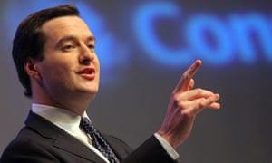 Conservative Shadow chancellor George Osborne
