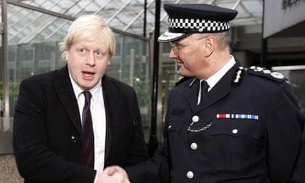 London mayor Boris Johnson and new Metropolitan Police Commissioner Sir Paul Stephenson
