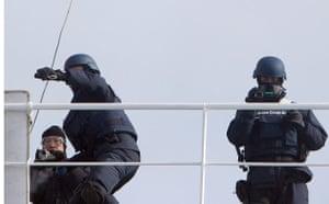 Japanese coastguards launch concussion grenades at Sea Shepherd crew