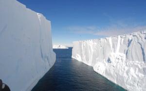 Iceberg valley in Antarctica