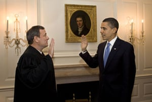 obama 100 days : Barack Obama sworn in for the second time