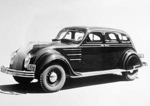 chrysler cars timeline showroom display of early chrysler sedan