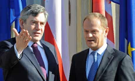 Gordon Brown and Donald Tusk