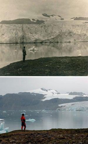 Glaciers under treat: the glacier Blomstrandbreen in Norway