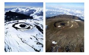 Glaciers under treat: The peak of Mount Kilimanjaro