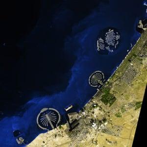 Satellite Eye: artificial islands along its Persian Gulf coastline in Dubai