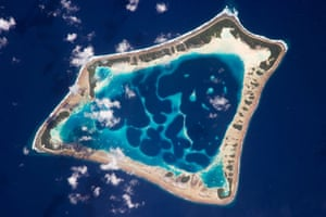 Satellite Eye: Atafu Atoll one of the Tokelau Islands in the southern Pacific Ocean