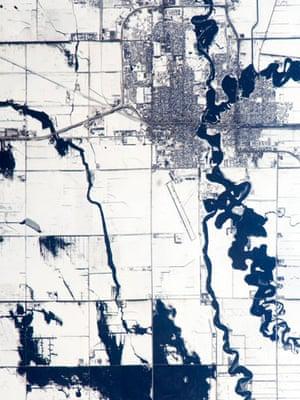 Satellite Eye: Red River spring flooding