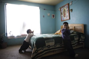 Swine flu La Gloria: Edgar Hernandez, aged 4, who survived the swine flu,