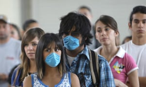Mexicans wear masks
