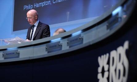Royal Bank of Scotland's chairman Philip Hampton