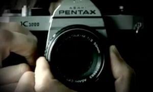 Close-up of a Pentax camera
