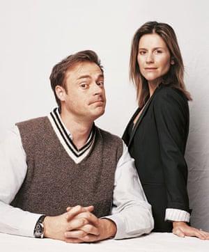 Radio types: Jamie Theakston and Harriet Scott