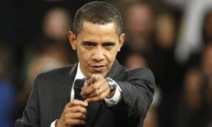 Barack Obama delivers a speech