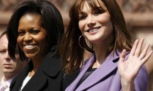 Michelle Obama and Carla Bruni-Sarkozy