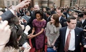 US and French First ladies Michelle Obama and Carla Bruni-Sarkozy